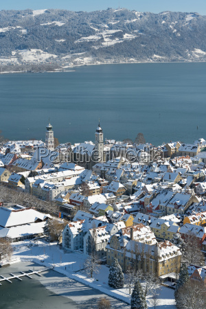 germany view of snow covered churches