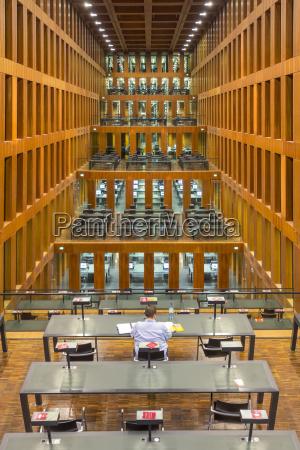 germany berlin single student using reading