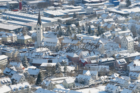 germany view of church and town