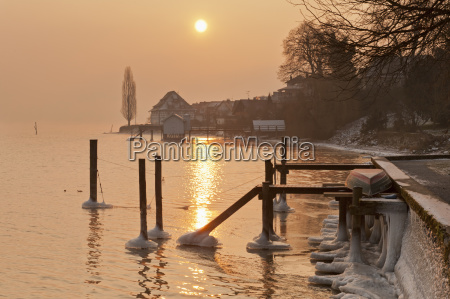 germany, , jetty, and, old, granary, in - 21111363