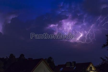 germany hamburg dramatic night sky at