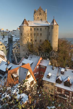 germany view of meersburg castle covered