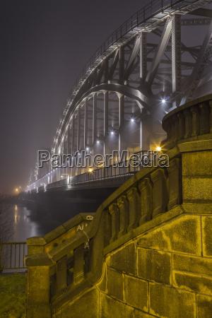 germany hamburg historic elbe bridge in