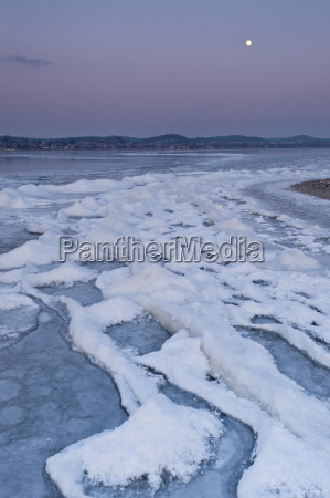 germany field of ice floes during
