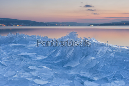 germany view of ice floes on