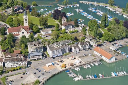 switzerland thurgau aerial view of romanshorn