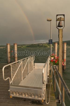 germany baden wurttenberg reichenau island rainbow