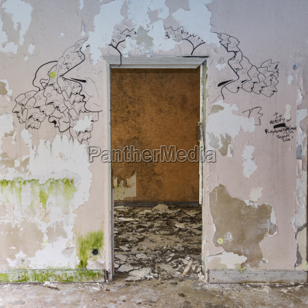 portugal azores san miguel doorframe and