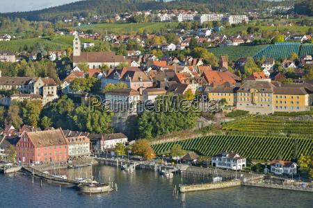 germany baden wurttemberg meersburg aerial view