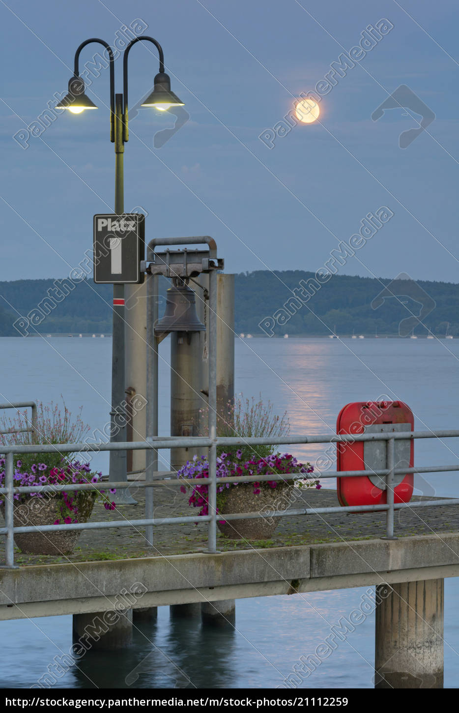 germany, , baden-wurttenberg, , lake, constance., full, moon - 21112259