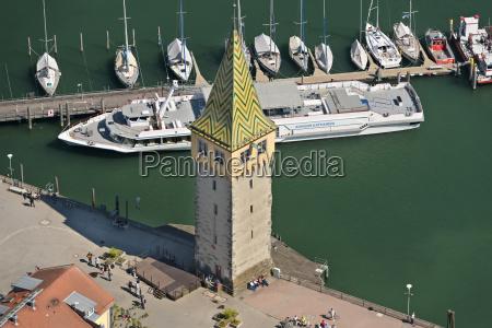 germany bavaria lindau tourist boat in