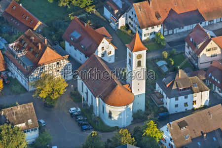 germany baden wurttemberg fischbach aerial view