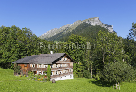 austria vorarlberg view of bregenzerwald house