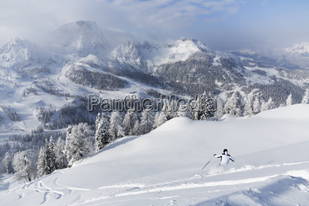 austria carinthia person skiing in snow