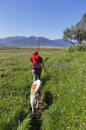 turkey mature woman hiking at latmus