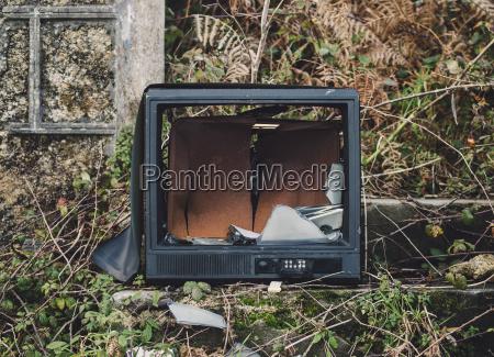 spain galicia ferrol broken tv in
