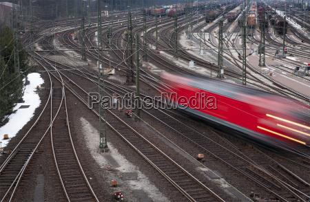 germany hamburg view to railway yard