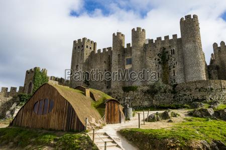 portugal obidos medieval castle
