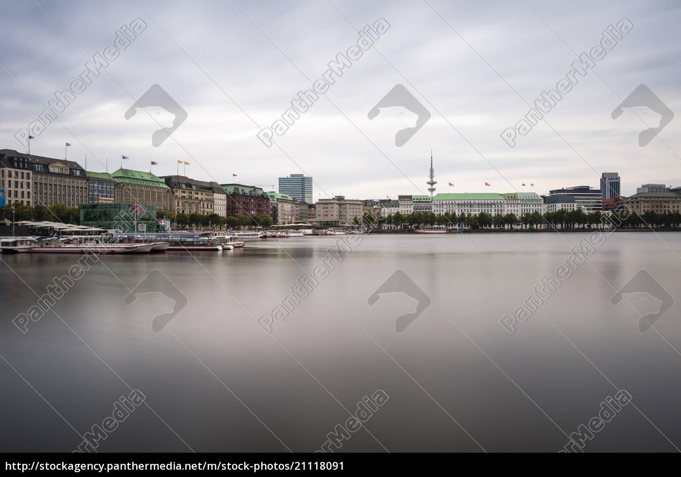 germany, , hamburg, , inner, alster, lake - 21118091