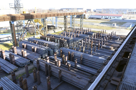storage of steel for processing in