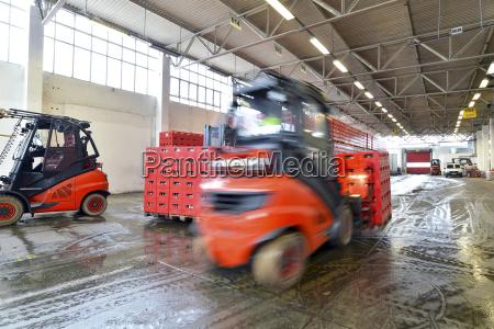 germany fork lift loading pallets of