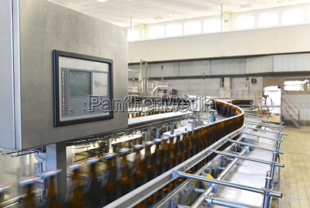 germany beer bottles on an assembly