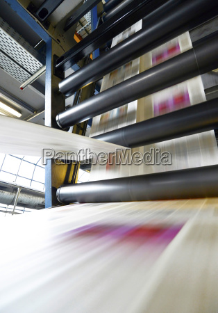 printing of newspapers in a printing