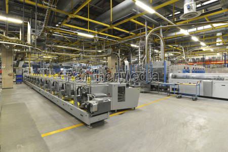 modern industrial machines in a printing