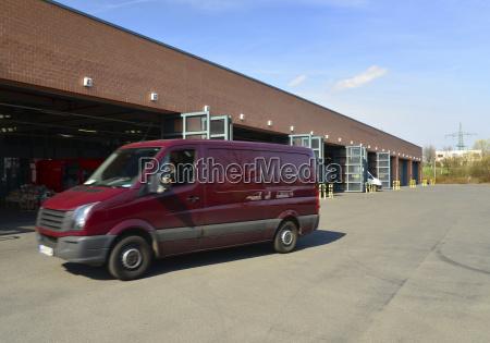 van at warehouse