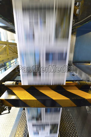 printing of newspapers in a printing