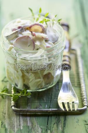 germany potato salad with radish and