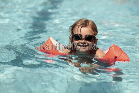 germany bavaria girl swimming with goggles