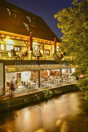 germany baden wuerttemberg ulm restaurant at