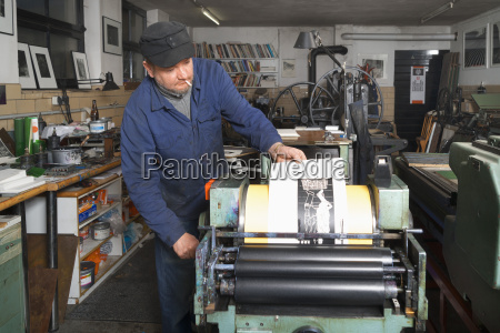 germany bavaria man working in print
