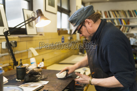 germany bavaria mature man working in