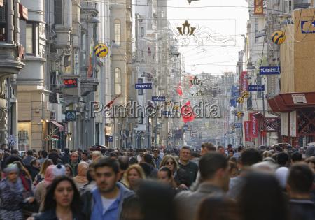turkey istanbul beyoglu people on istiklal