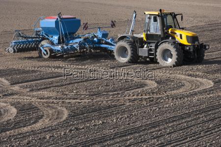 germany bavaria tractor with disc harrow