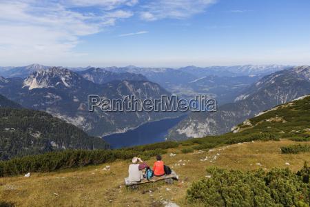 austria salzkammergut dachstein mountains view on