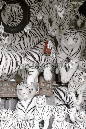 black and white tiger soft toys