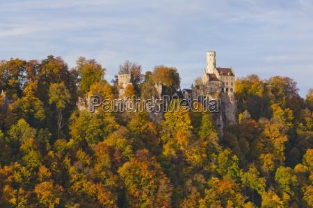 germany baden wuerttemberg view of lichtenstein