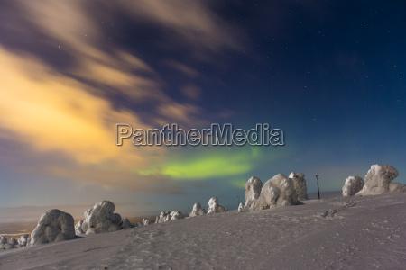 scandinavia finland kittilae polar lights aurora