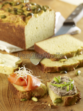 avocado bread with smoked salmon and