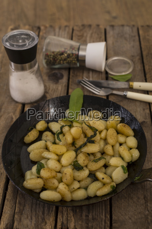 gnocchi with butter and sage in