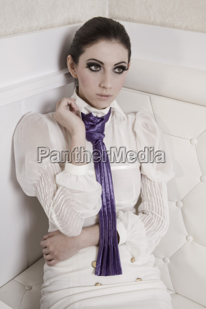 portrait of fashionable young woman in