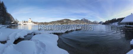 austria salzkammergut view of fuschlsee lake