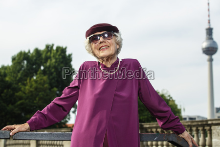 germany berlin portrait of fashionable senior