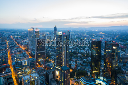 germany frankfurt city view from above