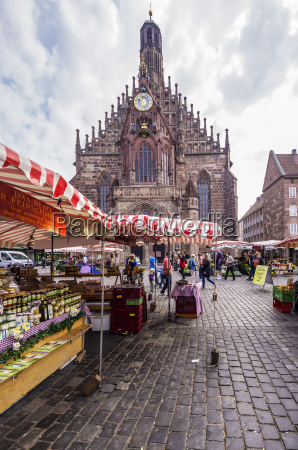 germany bavaria nuremberg view to market