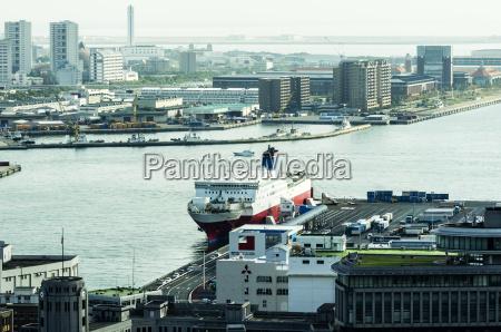 japan kobe ship at harbor