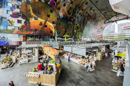 netherlands rotterdam indoor view of market
